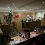 【秋田市】大型ショッピングモール 防犯カメラ設置工事